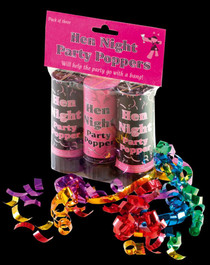 Pack of 3 Hen Party Poppers