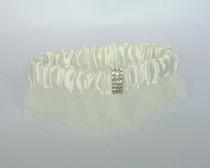 Rhinestone Garter - Ivory