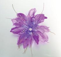 Feather Hair Clip Purple