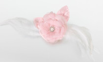 Lace Feather Hair Clip Pin Pink