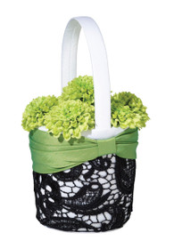 Green And Black Basket