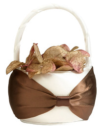 Brown Sash Flower Basket