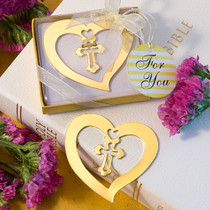 Book Lovers Collection Heart And Cross Design Bookmark Favours