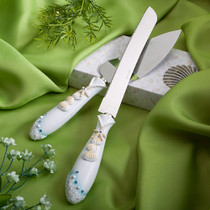 Finishing Touches Collection Beach Themed Wedding Cake Knife And Server Set