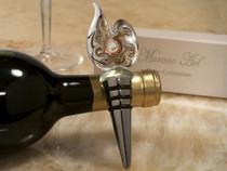 Murano Art Deco Collection Golden Swirl Bottle Stopper