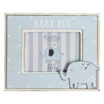 Petit Cheri' MDF Photo Frame 5x3.5 Elephant Baby Boy