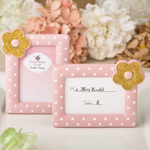 Pink And Gold Photo Frame, Place Card Frame From White Dream