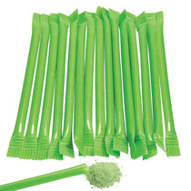 240 x Lime Green Candy Filled Straws Green Apple Flavour