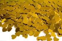 Gold Heart Table Sprinkles 6mm