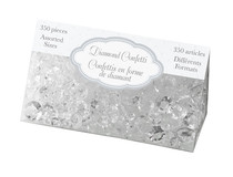Diamond Confetti Clear Assorted Sizes 12mm 9mm 5mm