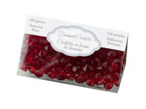 Diamond Confetti Red Assorted Sizes 12mm 9mm 5mm