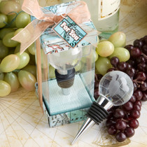 Glass Globe Design Wine Bottle Stopper Favours