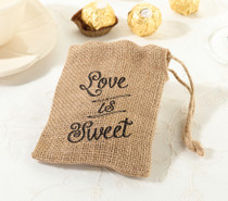 Set of 4 Burlap Favour Bags