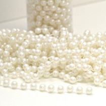 Ivory Pearl Beads On String 8mm x 10m