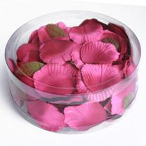 Satin Rose Petals Fuchsia