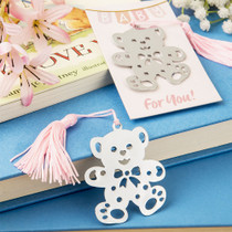 Lovable teddy bear design bookmark Favours from the book lovers collection Pink