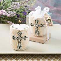 Cross Design Candle Tealight Holder