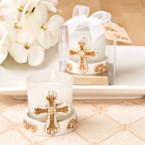 Vintage Cross Themed Candle Votive