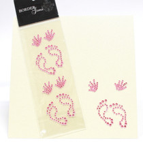 Gem Borders Baby Girl Hand And Foot Prints