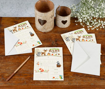 Woodland Baby Shower invitations Set of 8