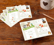 Woodland Baby Shower Prediction Cards