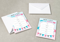 Gender Reveal invitations Set of 8