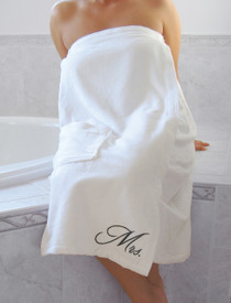 Mrs. Bath Wrap White