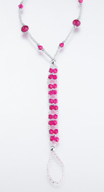 Set of 2 Bead Foot Jewellery Hotpink