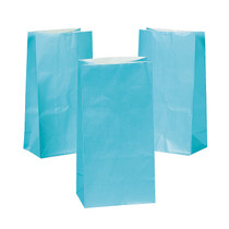 12 x Light Blue Gift Bags