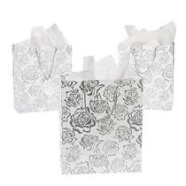Silver Rose Medium Gift Bag 12