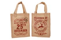 Set of 2 Hessian Christmas Bags