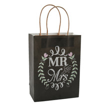 12 x Mr. And Mrs. Chalkboard Wedding Gift Bags