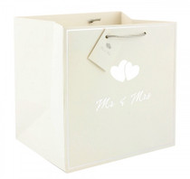 Pack of 12 Mr. And Mrs. Gift Bag Medium