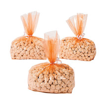 12 x Orange Cellophane Goody Bags