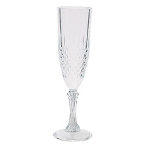 12 x Clear Patterned Champagne Flutes