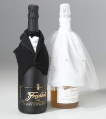 Bride And Groom Bottle Cover Set