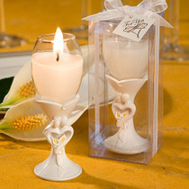 Stylish Bride And Groom Design Champagne Flute Candle Holder Favours