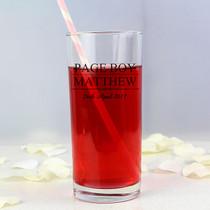 Personalised Mr & Mrs Page Boy Hi Ball Glass
