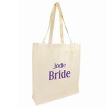 Personalised Bride Cotton Bag
