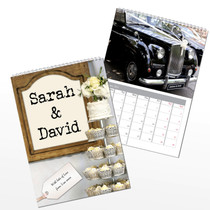 Personalised Just Married A4 Wall Calendar