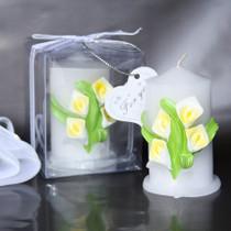 Calla Lily Pillar Candle