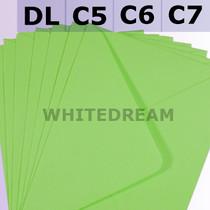 Bright Green Envelopes - C7, C6, C5, DL, 5'x7' Sizes