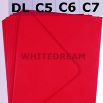 Poppy Red Envelopes - C7, C6, C5, DL, 5'x7' Sizes