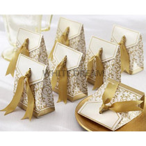 Gold - Candy Favour Boxes with Ribbon