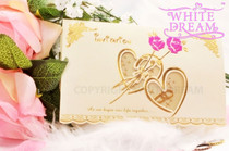 Personalised Luxury Rose & Hearts Wedding Invitations