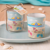 Beach Themed Votive From White Dreams