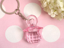 Pink Pacifier Key Chain