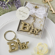 Luxurious Gold Baby Themed Key Chain From White Dream