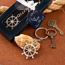 Ships Wheel Design Nautical Themed Key Chain