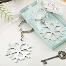 Stunning Snow Flake Design Silver Metal Key Chain